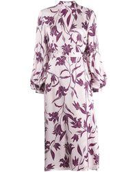 Equipment - Robe portefeuille à fleurs - Lyst
