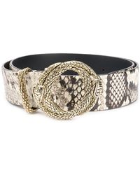 Just Cavalli - Snakeskin Pattern Belt - Lyst