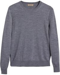 Burberry - Check Detail Sweater - Lyst