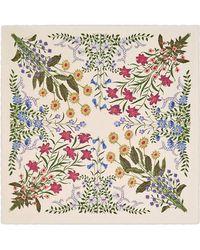 Gucci - New Flora Print Wool Silk Shawl - Lyst