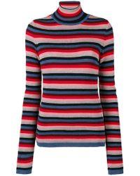 M.i.h Jeans - Moonie Striped Turtleneck Jumper - Lyst