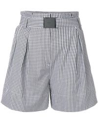 N°21 - Flared Checked Shorts - Lyst