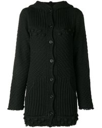 Twin Set - Chunky Knit Hooded Cardigan - Lyst