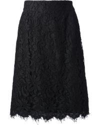 Christian Lacroix - Floral Lace Skirt - Lyst