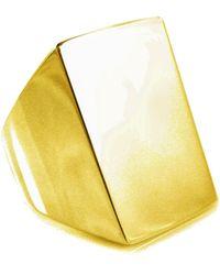Tom Binns - 'clash' Signet Ring - Lyst