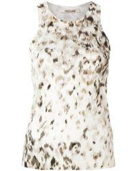 Roberto Cavalli - Snow Leopard Print Vest - Lyst