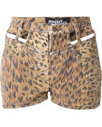 Jeremy Scott - - Cut Out Leopard Print Shorts - Women - Cotton - M - Lyst