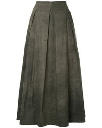 Uma Wang - Pleated Midi Skirt - Lyst