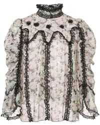 Anna Sui - Night Bloom Top - Lyst