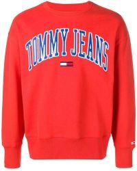 Tommy Hilfiger - Oversized Logo Sweatshirt - Lyst