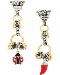 Rada' - Ladybird Sharktooth Drop Earrings - Lyst