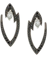 Stephen Webster - 18kt White Gold Lady Stardust Marquise Diamond Earrings - Lyst