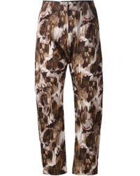 Anne Sofie Madsen - - Cropped Printed Trousers - Women - Cotton - S - Lyst