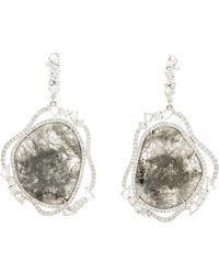 Saqqara - Sliced Diamond Drop Earrings - Lyst