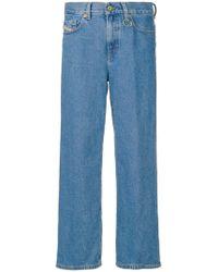 DIESEL - Jeans mit weitem Bein - Lyst