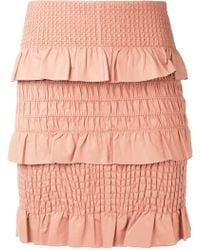 DROMe   Textured Skirt   Lyst