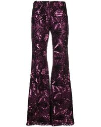P.A.R.O.S.H. - '70s Disco Flared Trousers - Lyst