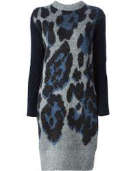 Sacai Luck - Leopard Patterned Jumper Dress - Lyst