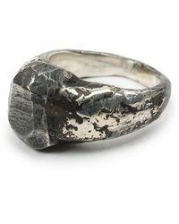 Lee Brennan Design   Distressed Signet Ring   Lyst