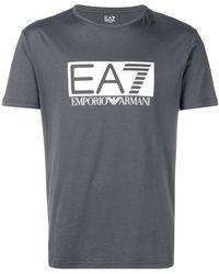 EA7 - Classic Brand T-shirt - Lyst