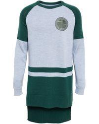 Astrid Andersen - - Long-line Varsity Sweater - Men - Cotton/spandex/elastane - M - Lyst
