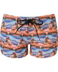 Blue Man - - Printed Shorts - Women - Polyester/spandex/elastane - M - Lyst