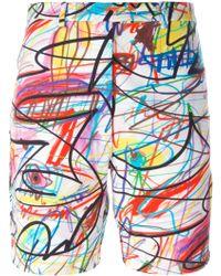 Jeremy Scott - Scribbled Shorts - Lyst