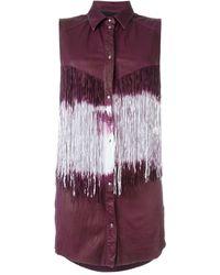 DROMe - Sleeveless Fringed Shirt - Lyst