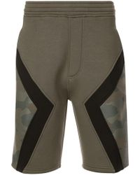 Neil Barrett - Panelled Camo Shorts - Lyst