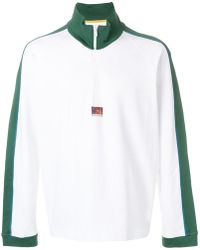KENZO - Striped Trim Sweatshirt - Lyst