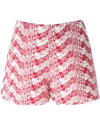 Giamba - Floral Embroidered Shorts - Lyst
