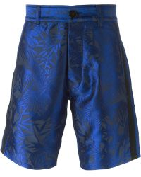 Christian Pellizzari - Leaf Jacquard Shorts - Lyst