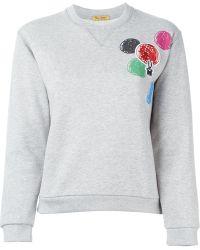Peter Jensen - Embroidered Circle Sweatshirt - Lyst
