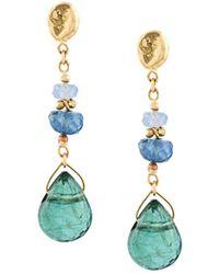 Natasha Collis - Tourmaline And Sapphire Drop Earrings - Lyst