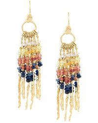 Natasha Collis - Multi Rod Sapphire Earrings - Lyst