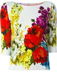 Blumarine - Floral Print Jumper - Lyst