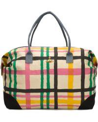 Vivienne Westwood - Handpainted Tartan Weekend Shoulder Bag - Lyst