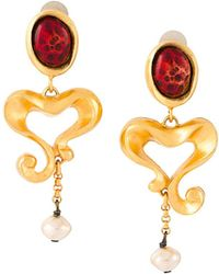Christian Lacroix - Baroque Heart Clip-on Earrings - Lyst