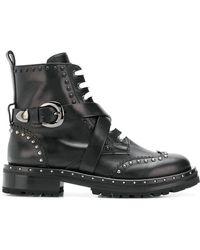 Ermanno Scervino - Cross Buckle Boots - Lyst
