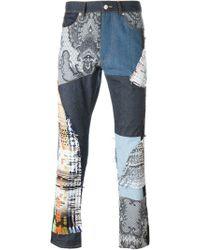 James Long - Patchwork Slim Jeans - Lyst