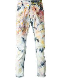 James Long - Paint Effect Jeans - Lyst