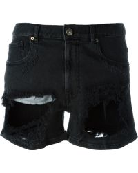 Gaëlle Bonheur - Destroyed Denim Shorts - Lyst