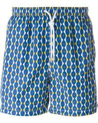 Kiton - Groovy Print Swim Shorts - Lyst