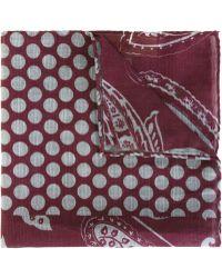 Al Duca d'Aosta   Al Duca D'aosta 1902 Paisley Polka Dot Print Pocket Square   Lyst