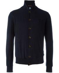 Eleventy | Stand Collar Cardigan | Lyst
