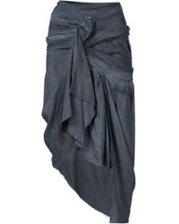 Vivienne Westwood Gold Label - Draped Asymmetric Skirt - Lyst