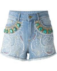 Amen - Bead Embellished Shorts - Lyst