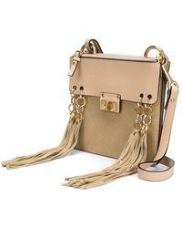 chloe elsie shoulder bag - Chlo�� Mini Jane Suede and Leather Cross-Body Bag in Brown | Lyst