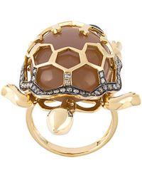 Christina Debs - Turtle Diamond Ring - Lyst