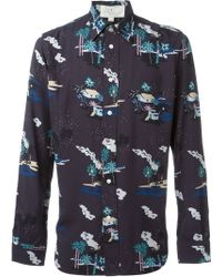 Red Ear - Landscape Print Shirt - Lyst